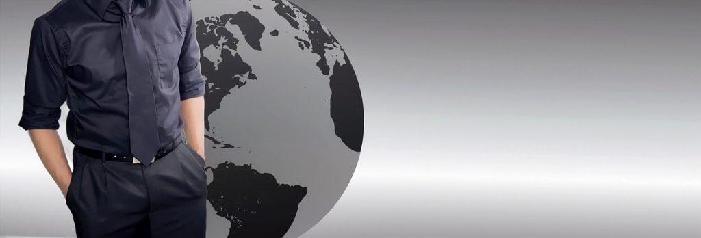 地球儀と就活生